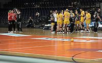 1. Bundesliga Handball Frauen - Punktspiel HC Leipzig (HCL) : DJK / MJC Trier - Arena Leipzig - im Bild: Auszeit für den HCL. Foto: Norman Rembarz ..