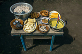 INDONESIA, Flores, breakfast in the fields at Waturaka Village