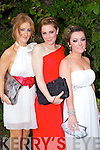 PICTURED: Grace Costello, Sinead Brassil and Aisling Muckian pictured at the Gael Colaiste Chiarrai Debs Ball in the Abbeygate Hotel, Tralee on Friday night .