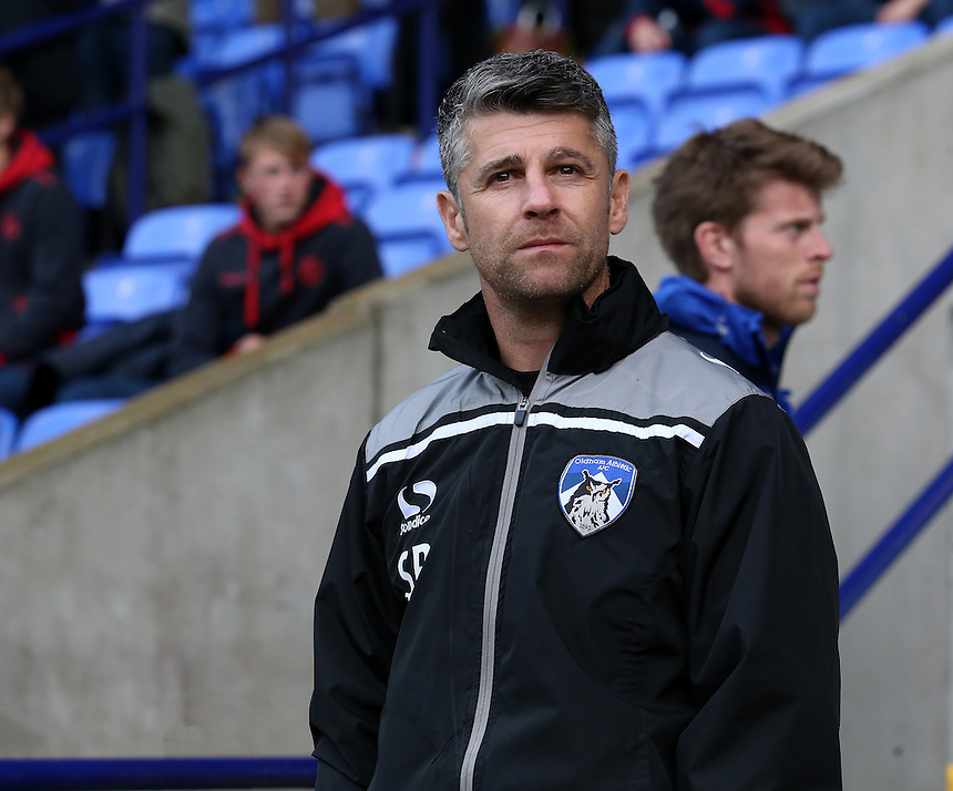 Oldham Athletic manager Stephen Robinson  looks on before kick off<br /> <br /> Photographer David Shipman/CameraSport<br /> <br /> The EFL Sky Bet League One - Bolton Wanderers v Oldham Athletic - Saturday 15th October 2016 - Macron Stadium - Bolton<br /> <br /> World Copyright &copy; 2016 CameraSport. All rights reserved. 43 Linden Ave. Countesthorpe. Leicester. England. LE8 5PG - Tel: +44 (0) 116 277 4147 - admin@camerasport.com - www.camerasport.com