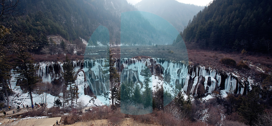 January 10th 2012_Jiuzhaigou, China_ Views of Abba Prefecture's Jiuzhai Valley National Park, which is home to nine Tibetan villages, over 220 bird species as well as a number of endangered plant and animal species, including the giant panda, Sichuan golden monkey, the Sichuan takin and numerous orchids and rhododendrons.Photographer: Daniel J. Groshong/The Hummingfish Foundation