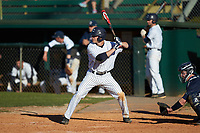 Kyle Smith (24) of the Catawba Indians at bat against the Wingate Bulldogs at Newman Park on March 19, 2017 in Salisbury, North Carolina. The Indians defeated the Bulldogs 12-6. (Brian Westerholt/Four Seam Images)