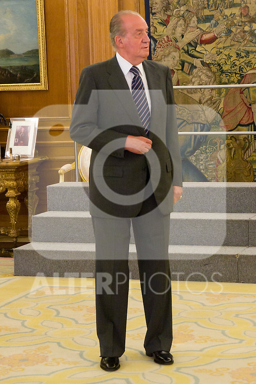 04.07.2012. King Juan Carlos I of Spain attends a Board of Entrepreneurs Circle, chaired by Ms Monica de Oriol in the Zarzuela Palace. In the image Juan Carlos I de Borbon (Alterphotos/Marta Gonzalez)