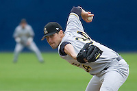 June 1, 2008: Salt Lake Bees reliever Darren O'Day pitching against the Tacoma Rainiers at Cheney Stadium in Tacoma, Washington.