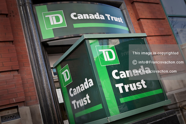 TD Canada Trust logo is seen in Montreal Friday October 26, 2012. TD Canada Trust is the personal, small business and commercial banking operation of the Toronto-Dominion Bank (TD) in Canada.