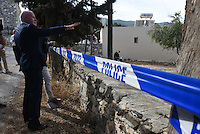 "Pictured: Detective Inspector Jon Cousins, from South Yorkshire Police in Kos, Greece. Monday 26 September 2016<br /> Re: Police teams searching for missing toddler Ben Needham on the Greek island of Kos have said they are ""optimistic"" about new excavation work.<br /> Ben, from Sheffield, was 21 months old when he disappeared on 24 July 1991 during a family holiday.<br /> Digging has begun at a new site after a fresh line of inquiry suggested he could have been crushed by a digger.<br /> South Yorkshire Police (SYP) said it continued to keep an ""open mind"" about what happened to Ben."