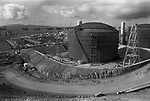 Sullom Voe, BR British petroleum construction site. 1979.