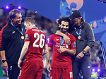 Liverpool's FC coach Jurgen Klopp and Liverpool's FC Mohamed Salah during UEFA Champions League match, Final Roundl between Tottenham Hotspur FC and Liverpool FC at Wanda Metropolitano Stadium in Madrid, Spain. June 01, 2019.(Foto: nordphoto / Alterphoto /Manu R.B.)