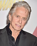 HOLLYWOOD, CA - JUNE 25: Michael Douglas arrives at the Premiere Of Disney And Marvel's 'Ant-Man And The Wasp' at the El Capitan Theatre on June 25, 2018 in Hollywood, California.