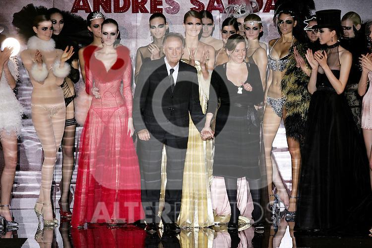 Andres Sarda and his daughter Nuria Sarda during Madrid fashion week Pasarela Cibeles fall/winter 2007 in Madrid, Thursday February 15, 2007. (ALTERPHOTOS/Alvaro Hernandez).