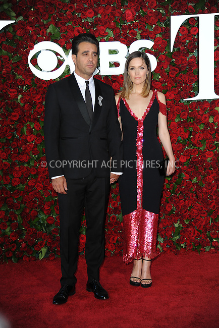www.acepixs.com<br /> June 12, 2016  New York City<br /> <br /> Bobby Cannavale and Rose Byrne attending the 70th Annual Tony Awards at The Beacon Theatre on June 12, 2016 in New York City.<br /> <br /> Credit: Kristin Callahan/ACE Pictures<br /> <br /> <br /> Tel: 646 769 0430<br /> Email: info@acepixs.com