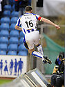 24/10/2009  Copyright  Pic : James Stewart.sct_jspa11_kilmarnock_st_johnstone  . :: KEVIN KYLE LEAVES THE FIELD OF PLAY AS HE CELEBRATES SCORING KILMARNOCK'S FIRST :: .James Stewart Photography 19 Carronlea Drive, Falkirk. FK2 8DN      Vat Reg No. 607 6932 25.Telephone      : +44 (0)1324 570291 .Mobile              : +44 (0)7721 416997.E-mail  :  jim@jspa.co.uk.If you require further information then contact Jim Stewart on any of the numbers above.........
