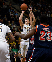 David Kravish of California shoots the ball during the game against Pepperdine at Haas Pavilion in Berkeley, California on November 13th, 2012.  California defeated Pepperdine, 79-62.