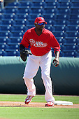 Philadelphia Phillies Ryan Howard #6 during a scrimmage vs the Florida State Seminoles  at Bright House Field in Clearwater, Florida;  February 24, 2011.  Philadelphia defeated Florida State 8-0.  Photo By Mike Janes/Four Seam Images