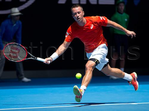 18.01.2016. Melbourne Park, Melbourne, Australia. Australian Open Tennis championships. Philipp Kohlschreiber (ger) mens singles