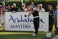 Soren Kjeldsen (DEN) during the 1st day at the  Andalucía Masters at Club de Golf Valderrama, Sotogrande, Spain. .Picture Fran Caffrey www.golffile.ie