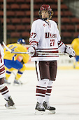 Adam Phillips (UMass - 27) - Sweden's Under-20 team played its last game on this Massachusetts tour versus the University of Massachusetts-Amherst Minutemen losing 5-1 on Saturday, November 6, 2010, at the Mullins Center in Amherst, Massachusetts.