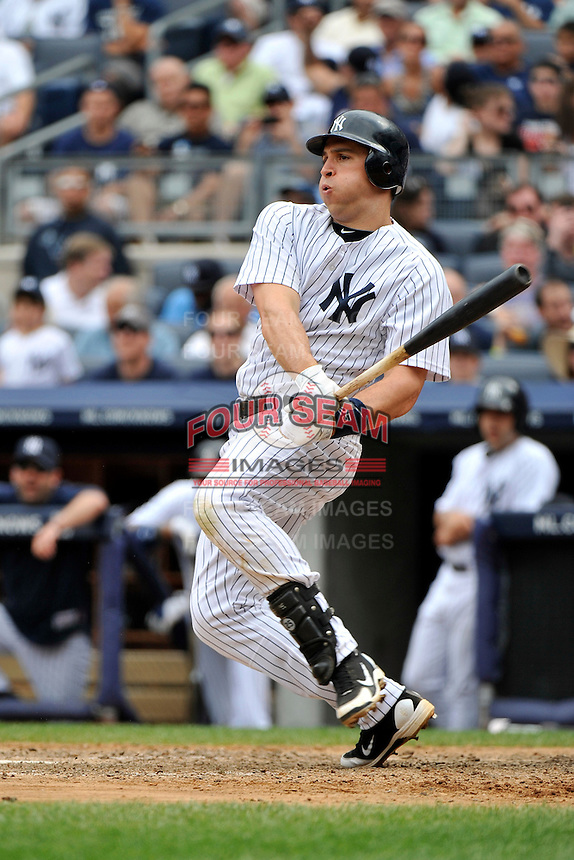 New York Yankees infielder Mark Teixeira #25 during a game against the Texas Rangers at Yankee Stadium on June 16, 2011 in Bronx, NY.  Yankees defeated Rangers 3-2.  Tomasso DeRosa/Four Seam Images