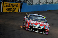 Nov. 9, 2008; Avondale, AZ, USA; NASCAR Sprint Cup Series driver Carl Edwards during the Checker Auto Parts 500 at Phoenix International Raceway. Mandatory Credit: Mark J. Rebilas-