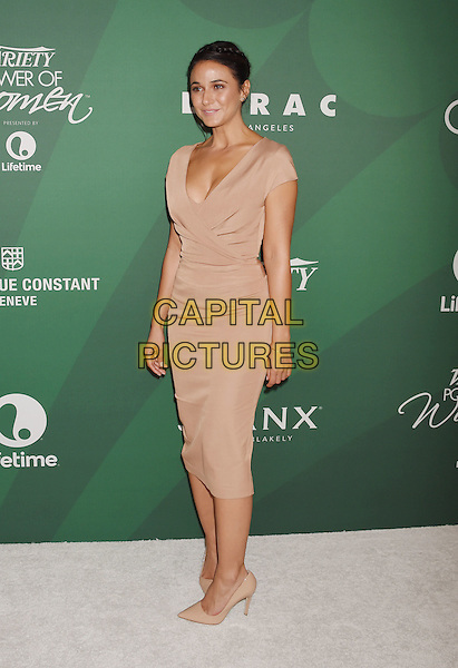 BEVERLY HILLS, CA - OCTOBER 14: Actress Emmanuelle Chriqui arrives at the Variety's Power Of Women Luncheon 2016 at the Beverly Wilshire Four Seasons Hotel on October 14, 2016 in Beverly Hills, California.<br /> CAP/ROT/TM<br /> &copy;TM/ROT/Capital Pictures