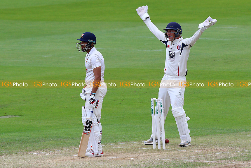 Callum Jackson of Kent with an appeal for the wicker of Ravi Bopara during Essex CCC vs Kent CCC, Specsavers County Championship Division 2 Cricket at the Essex County Ground on 4th July 2016