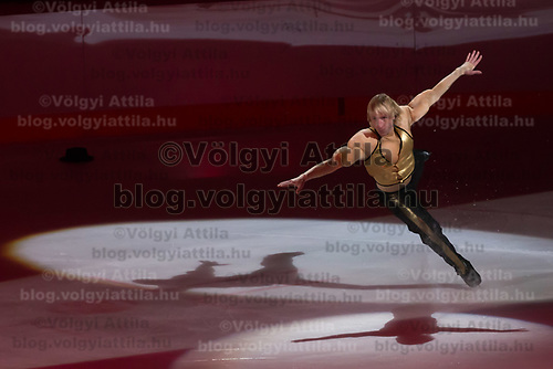 Olypmic and European champion figure skater Evgeny Plushenko of Russia performs during the Kings on Ice skating show in Budapest, Hungary on April 29, 2018. ATTILA VOLGYI