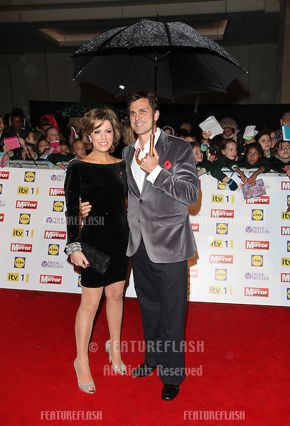 Natasha Kaplinski and husband arriving for the 2012 Pride of Britain Awards, at the Grosvenor House Hotel, London. 29/10/2012 Picture by: Alexandra Glen / Featureflash