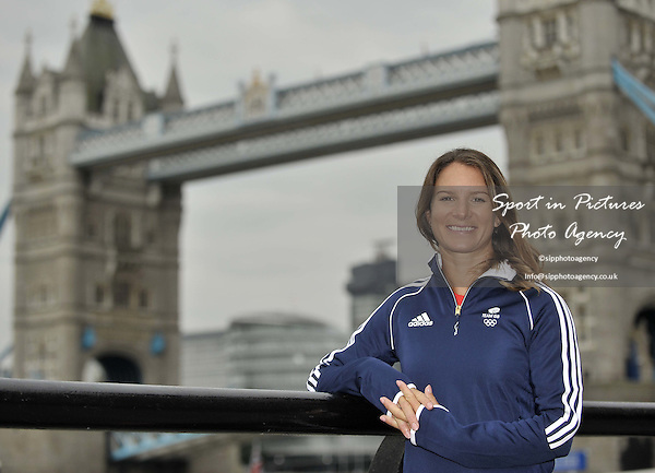 Bryony Shaw (RS:X women sailing Windsurfer). First TeamGB athletes selected for Rio2016. St Katherines Dock. London. England. UK. 09/09/2015. MANDATORY Credit Garry Bowden/SIPPA - NO UNAUTHORISED USE - 07837 394578