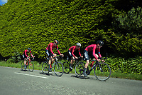 King's College Senior A u20 boys in action during the NZ Schools Road Cycling championship day one team time trials at Koputaroa Road near Levin, New Zealand on Saturday, 30 September 2017. Photo: Dave Lintott / lintottphoto.co.nz