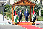 Palestinian President Mahmoud Abbas meets with Iraqi Iraqi President Barham Salih, at Salam Palace in Baghdad on March 04, 2019. Photo by Thaer Ganaim