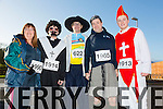 Catherine Quirke, Marie Hanafin, Tim Moran, Mike Lynch, Sean Hanafin at the Tralee Musical Society 5k Fancy Dress Fun Run  from the Tralee Wetlands on Sunday