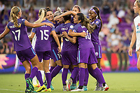Orlando, FL - Saturday July 15, 2017: Orlando Pride Team during a regular season National Women's Soccer League (NWSL) match between the Orlando Pride and FC Kansas City at Orlando City Stadium.