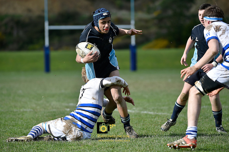 Action from International College Rugby - Aotea College v Uppingham High (UK) at Aotea College, Porirua, New Zealand on Monday 10 August  2015.<br /> Photo by Masanori Udagawa. <br /> www.photowellington.photoshelter.com.