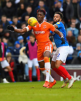 Armand Gnanduillet of Blackpool holds off Anton Walkes of Portsmouth during Portsmouth vs Blackpool, Sky Bet EFL League 1 Football at Fratton Park on 12th January 2019