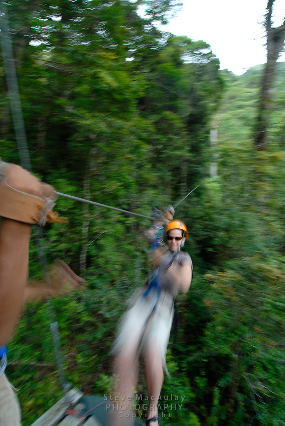 Zip line canopy tour, Boquete