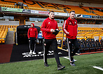 Jack O'Connell of Sheffield Utd and Dean Henderson of Sheffield Utd during the Premier League match at Molineux, Wolverhampton. Picture date: 1st December 2019. Picture credit should read: Simon Bellis/Sportimage