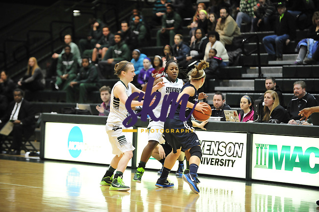Stevenson women's basketball remains undefeated on the season with their 57 -49 victory over Messiah Wednesday night at Owings Mills gymnasium.