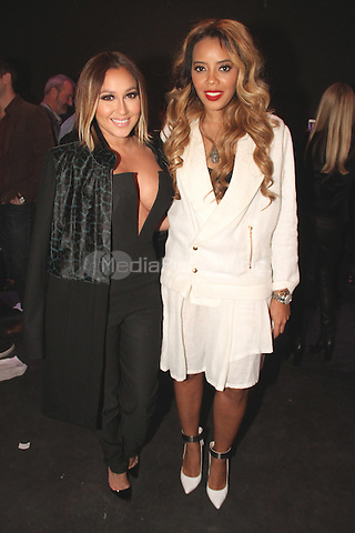 NEW YORK, NY - FEBRUARY 07: Adrienne Bailon, Angela Simmons at the Charlotte Ronson Fall / Winter 2014 Presentation at The Hub at The Hudson Hotel on February 7, 2014 in New York City.  Photo Credit: Walik Goshorn/MediaPunch