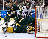 Matt Marshall (Vermont - 17), Denny Kearney (Yale - 19), Vermont?, Rob Madore (Vermont - 29) - The University of Vermont Catamounts defeated the Yale University Bulldogs 4-1 in their NCAA East Regional Semi-Final match on Friday, March 27, 2009, at the Bridgeport Arena at Harbor Yard in Bridgeport, Connecticut.