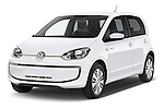 2014 Volkswagen up! e-up! 5 Door Hatchback 2WD Angular Front stock photos of front three quarter view