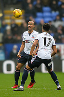 Bolton Wanderers' Karl Henry and Derik Osede<br /> <br /> Photographer Andrew Kearns/CameraSport<br /> <br /> The EFL Sky Bet Championship - Bolton Wanderers v Fulham - Saturday 10th February 2018 - Macron Stadium - Bolton<br /> <br /> World Copyright &copy; 2018 CameraSport. All rights reserved. 43 Linden Ave. Countesthorpe. Leicester. England. LE8 5PG - Tel: +44 (0) 116 277 4147 - admin@camerasport.com - www.camerasport.com