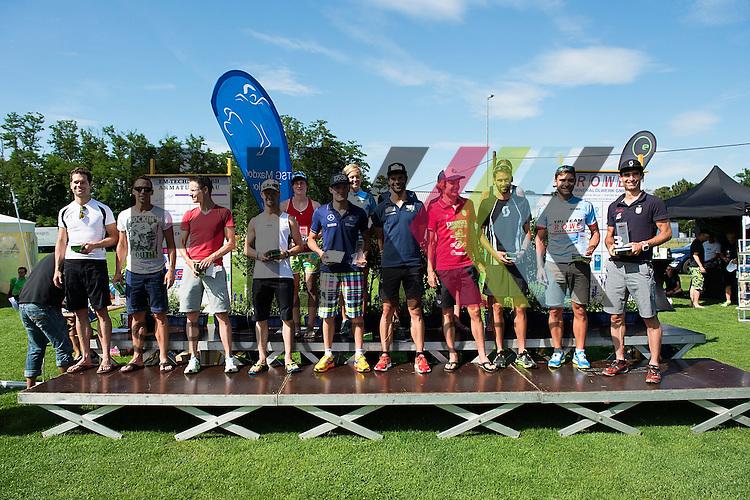Top 15 Finishers women and men beim BASF Triathlon Cup Rhein Neckar 2015 in Maxdorf.<br /> <br /> Foto &copy; Rhein-Neckar-Picture *** Foto ist honorarpflichtig! *** Auf Anfrage in hoeherer Qualitaet/Aufloesung. Belegexemplar erbeten. Veroeffentlichung ausschliesslich fuer journalistisch-publizistische Zwecke. For editorial use only.