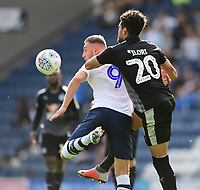Preston North End's Louis Moult vies for possession with Reading's Tiago Ilori<br /> <br /> Photographer Chris Vaughan/CameraSport<br /> <br /> The EFL Sky Bet Championship - Preston North End v Reading - Saturday 15th September 2018 - Deepdale - Preston<br /> <br /> World Copyright &copy; 2018 CameraSport. All rights reserved. 43 Linden Ave. Countesthorpe. Leicester. England. LE8 5PG - Tel: +44 (0) 116 277 4147 - admin@camerasport.com - www.camerasport.com