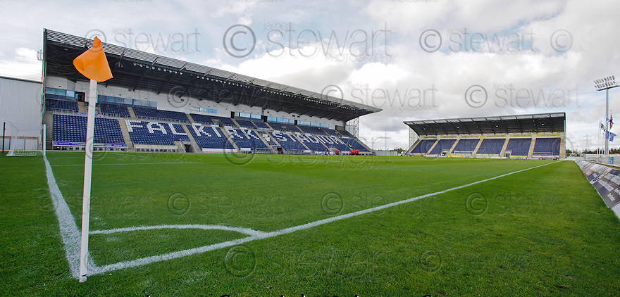 General View of Falkirk Stadium looking toward the Main and North Stand ...