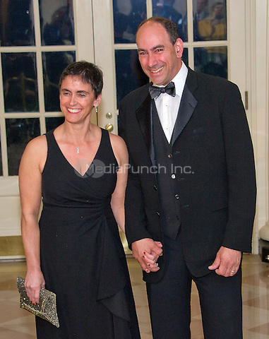 Philanthropist Naomi Aberly and Larry Lebowitz arrives for the State Dinner in honor of Prime Minister Trudeau and Mrs. Sophie Gr&Egrave;goire Trudeau of Canada at the White House in Washington, DC on Thursday, March 10, 2016.<br /> Credit: Ron Sachs / Pool via CNP/MediaPunch