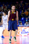 FC Barcelona's Marcelinho Huertas celebrates during Liga Endesa ACB 2013-2014 match against Gipuzkoa Basket Club. November 3, 2013. (ALTERPHOTOS/Alex Caparros)