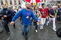 Lara Fabian & husband Gabriel Di Giorgio attend the Ducasse or Doudou in Mons - Belgium