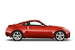 Passenger side profile view of a 2008 Nissan 350z Coupe.