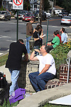 Vincent D'Onofrio (Guiding Light & Law & Order Criminal Intent) shoots a scene of Crackers - an Independent Short Film which is a dark comedy about an Italian chef Gus (Vincent D'Onofrio) and his wife Cat who life is turned upside down by his mother-in-law Bidelia as it is filmed in South Amboy, New Jersey. These photos were taken on Sept. 16 and 17, 2010 on set. (Photo by Sue Coflin/Max Photos)