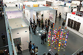 27 February 2014, London, United Kingdom. The Art14 Art Fair at Olympia Grand Hall, London, opens its doors to the public from 28 February to 2 March 2014. Art14 London features 180 galleries from 40 countries with works from emerging talents to modern masters.